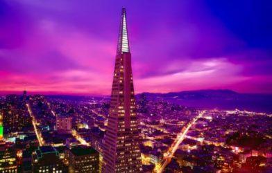 Skyline of San Francisco featuring Transamerica Pyramid