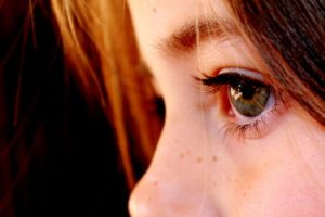 Closeup of child's face