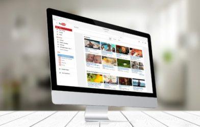 YouTube on a desktop screen