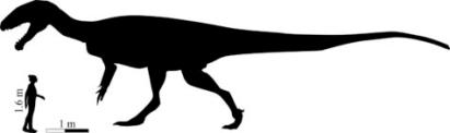 Silhouette of new, gigantic dinosaur species discovered