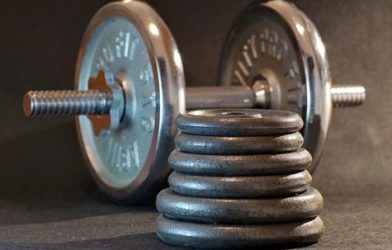 Dumbbell and weights