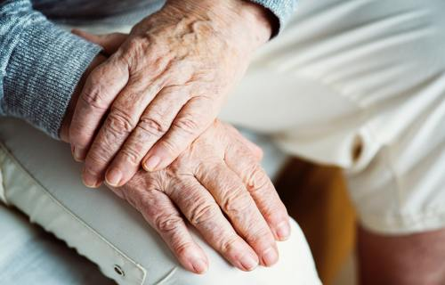 Elderly, older hands