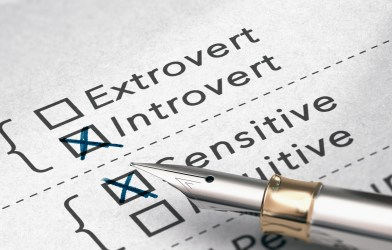 Personality test - introverts, extroverts