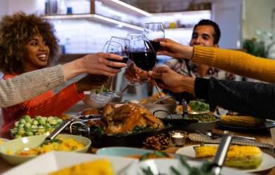 Friendsgiving Thanksgiving dinner party