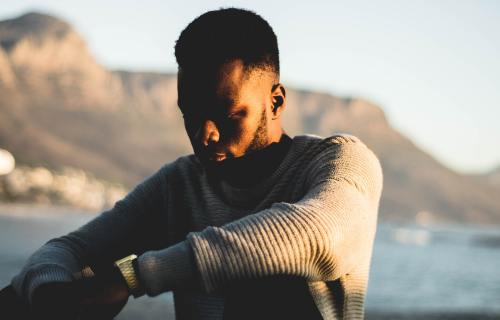 African-American man alone
