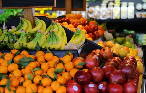 Fruit section of grocery store