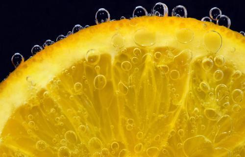 Orange slice in water - Vitamin C