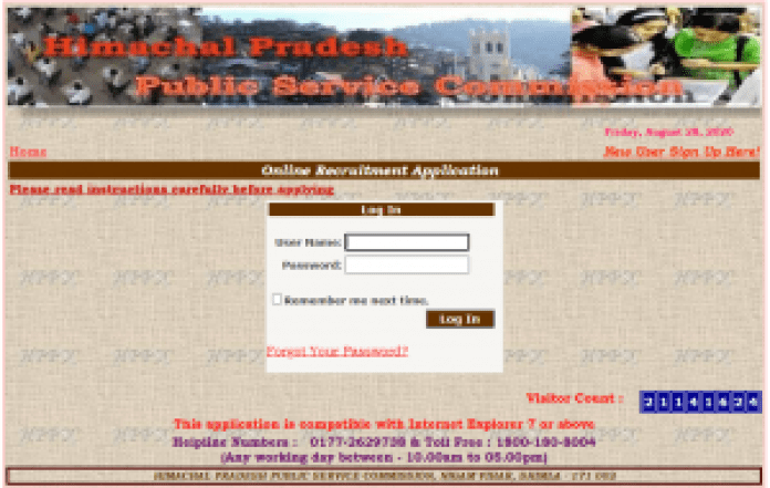 HPAS 2020 Admit Card