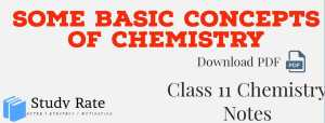 Read more about the article Some Basic Concepts of Chemistry Class 11 Notes Chapter 1 – Download PDF