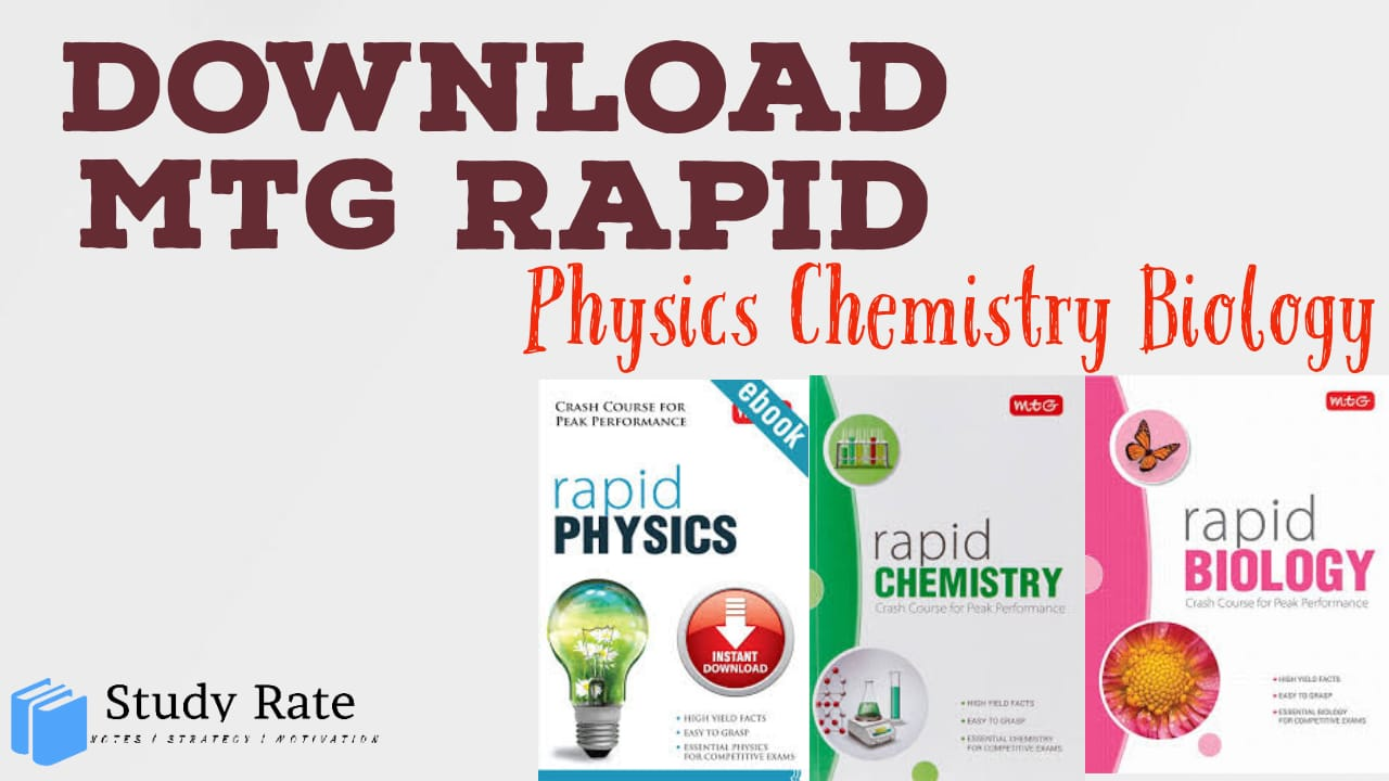You are currently viewing Download MTG Rapid Books for PCB NEET PDF: Latest Edition