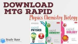 Download MTG Rapid Books for PCB NEET PDF: Latest Edition