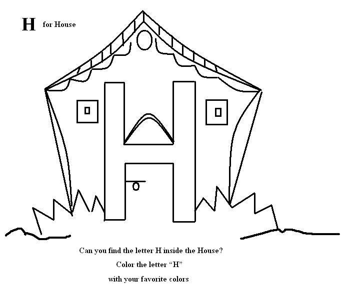 this features the and a house. alphabet and letter activities ...