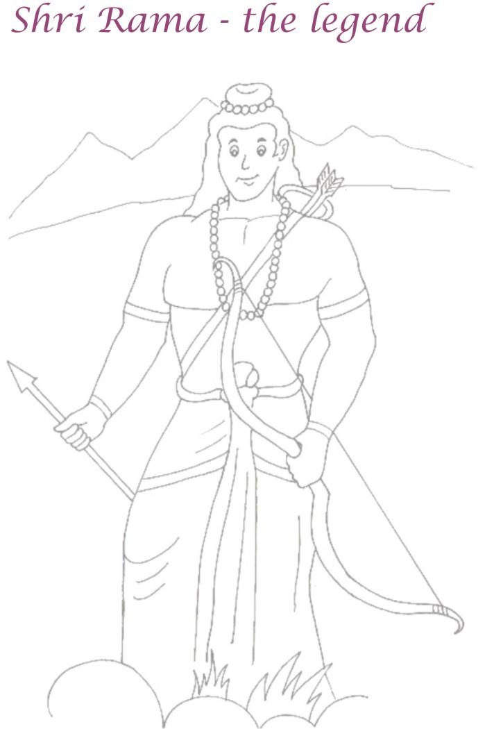Lord Rama Coloring Page Printable