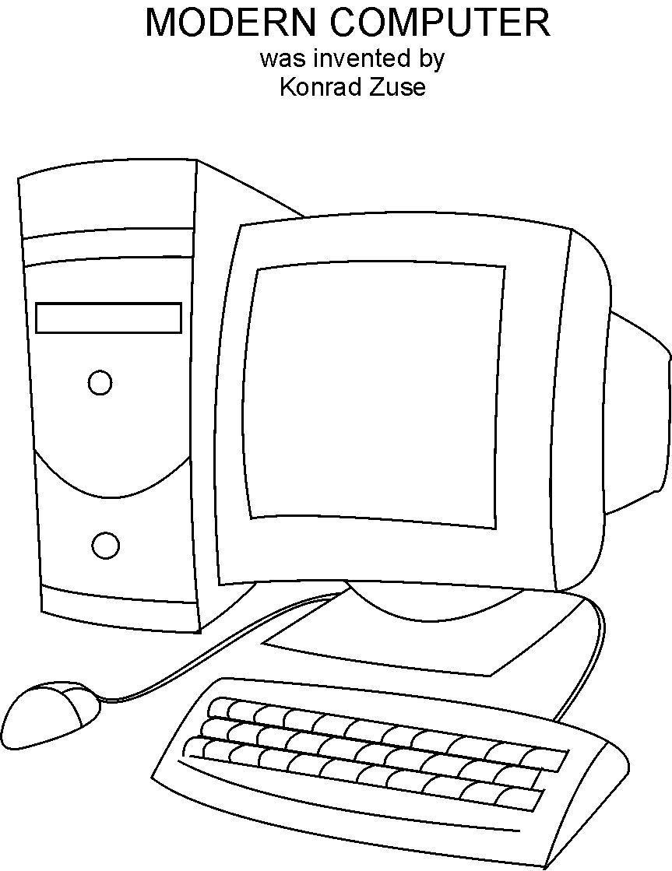 free worksheet. computer parts worksheet. spincushion.com ... - Computer Coloring Pages Printable