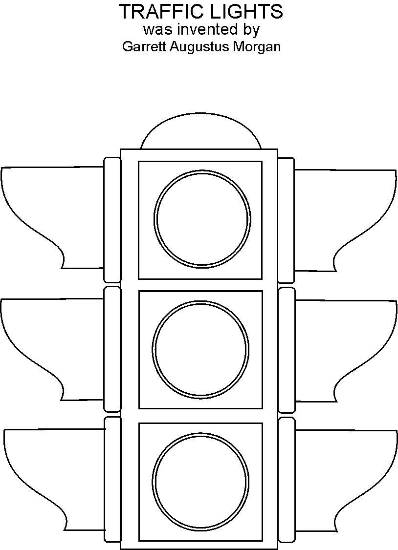 traffic lights coloring printable