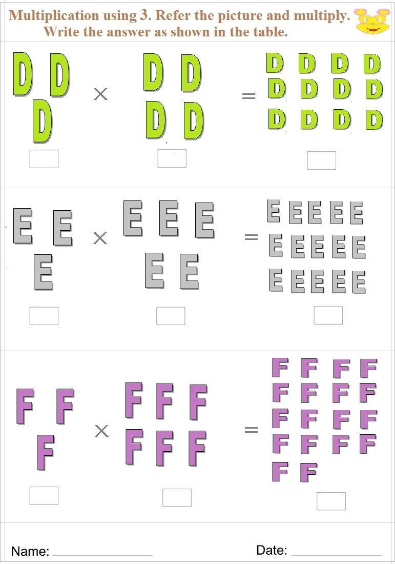 Worksheets Multiplication Learning Printable