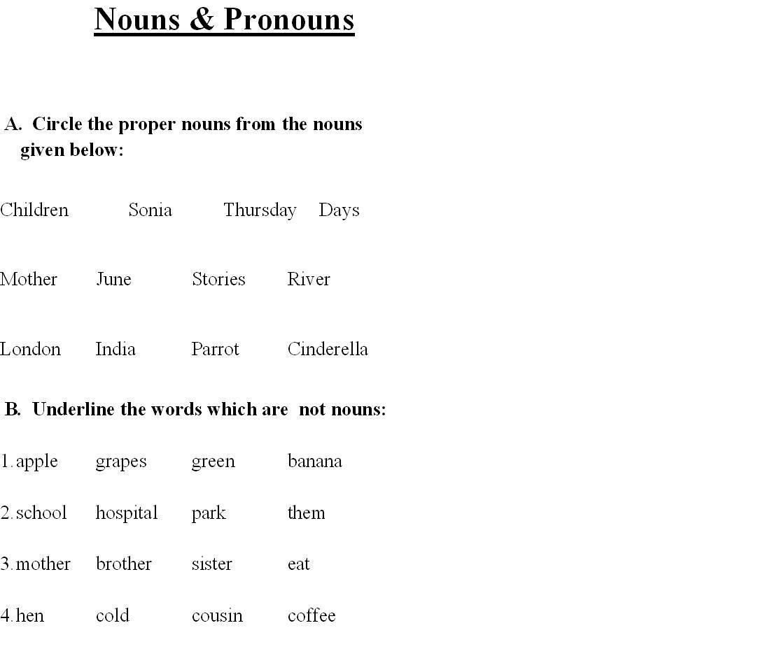 Nouns Amp Pronouns