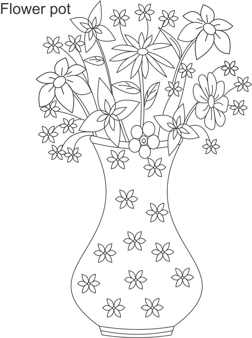 3409 33929 flower pot coloring page 6 jpg