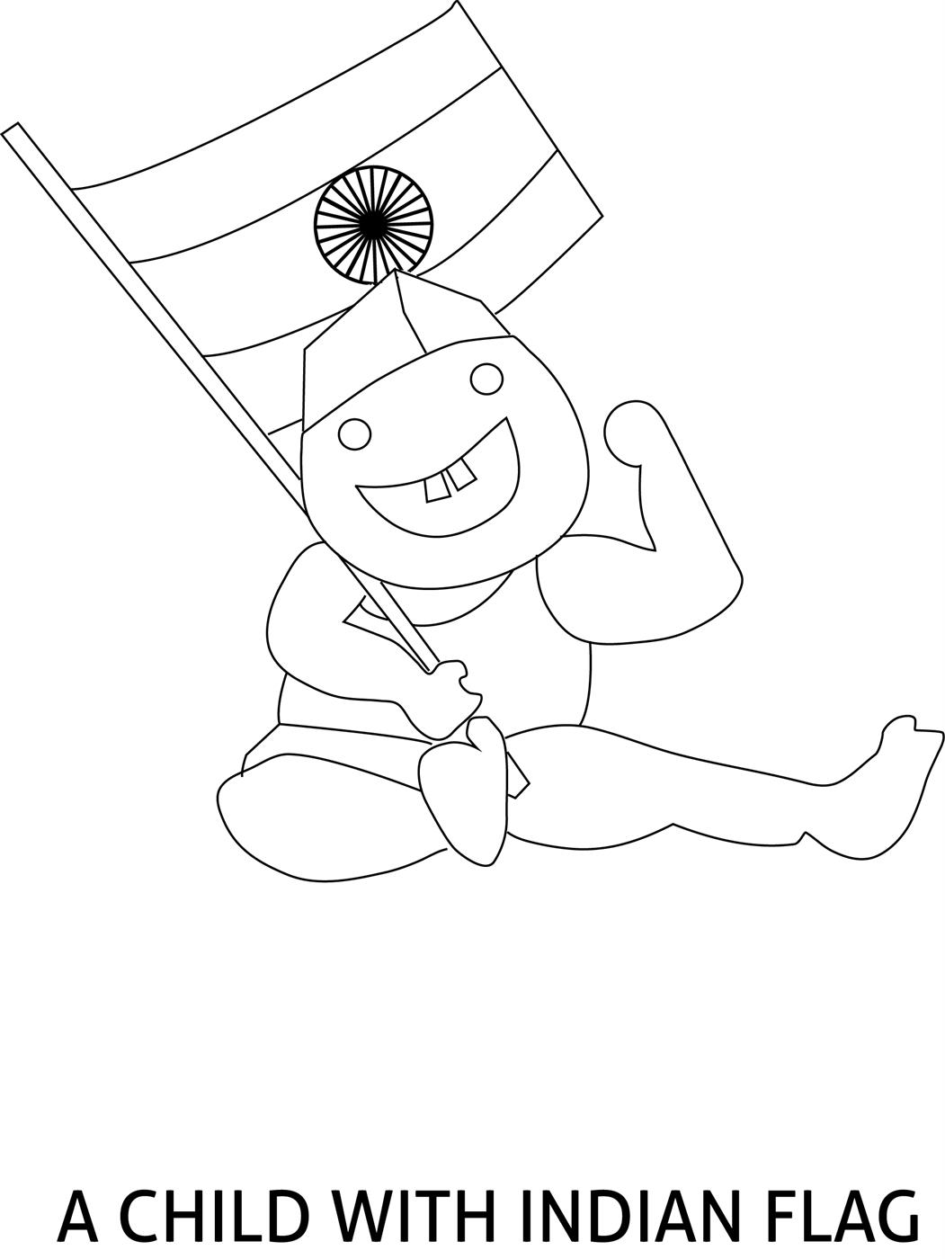 Republic Day Of India Coloring Page