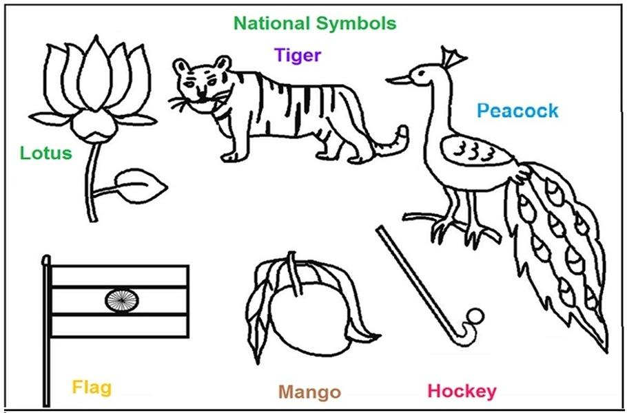 national symbols of printable pages for kids