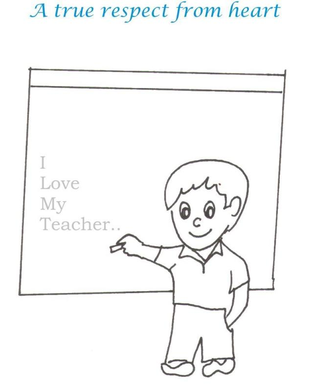 Teacher printable coloring page for kids 29
