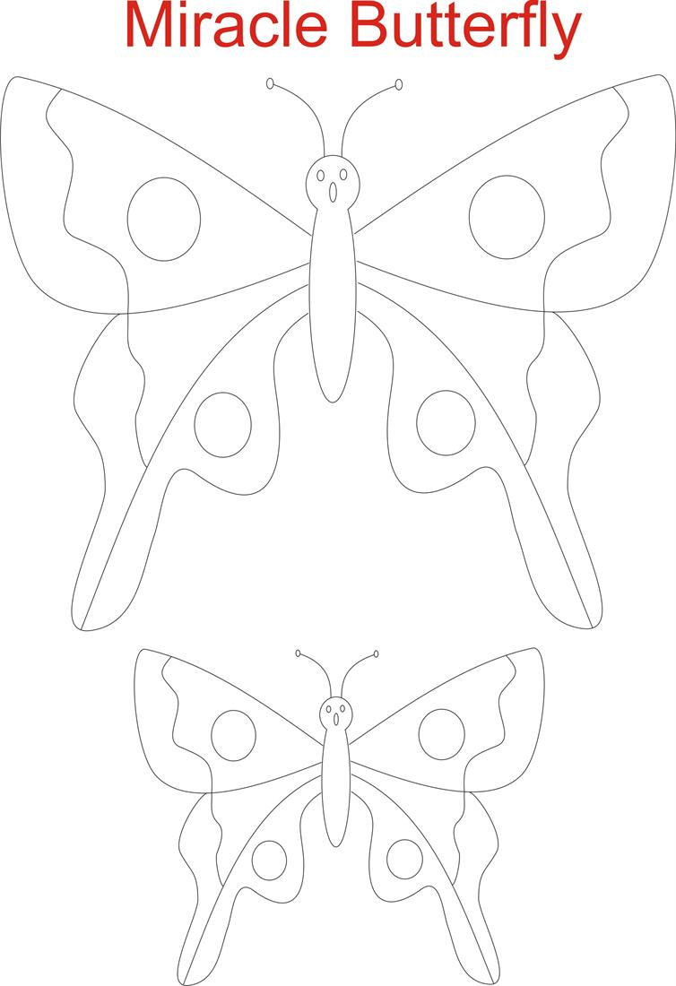 Beautiful Butterfly Coloring Worksheet
