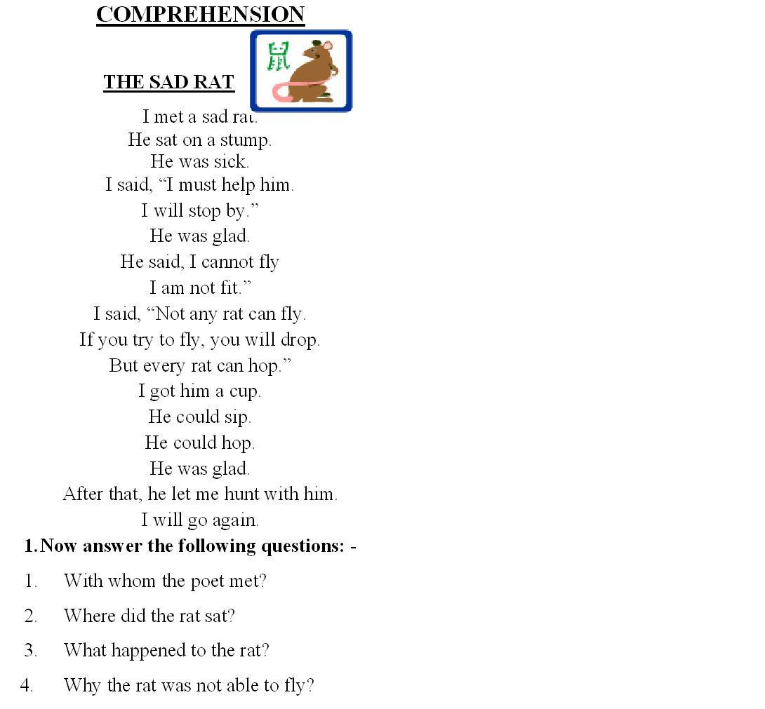 - Comprehension Worksheet For Grade 2 With Questions Printable