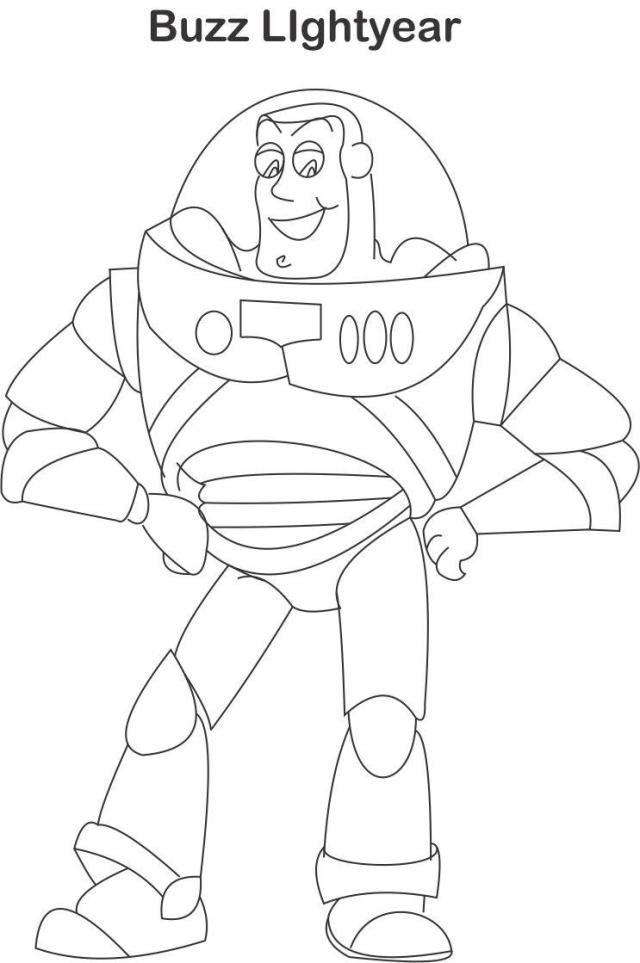 Buzz lightyear coloring page for kids
