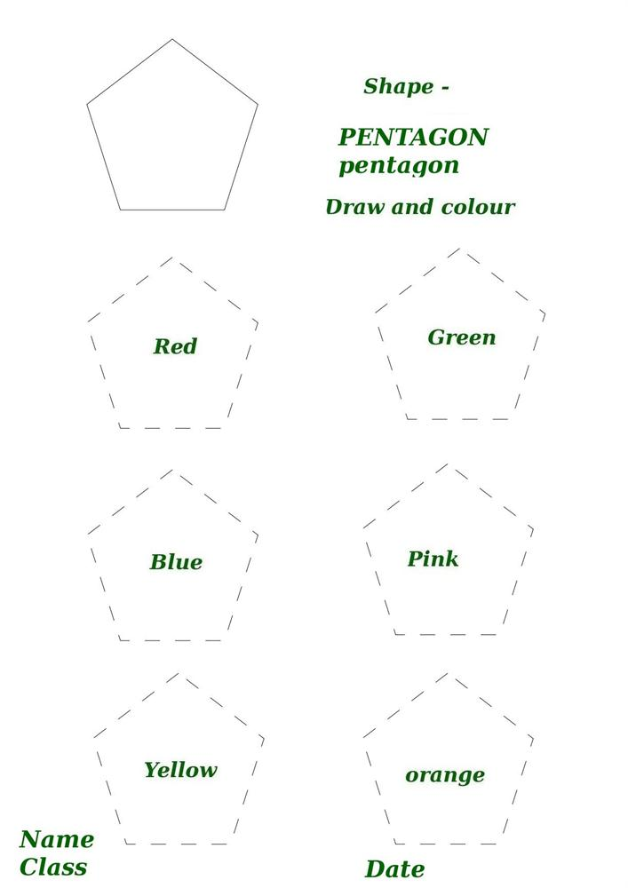 Shape Activity Worksheet Pentagon