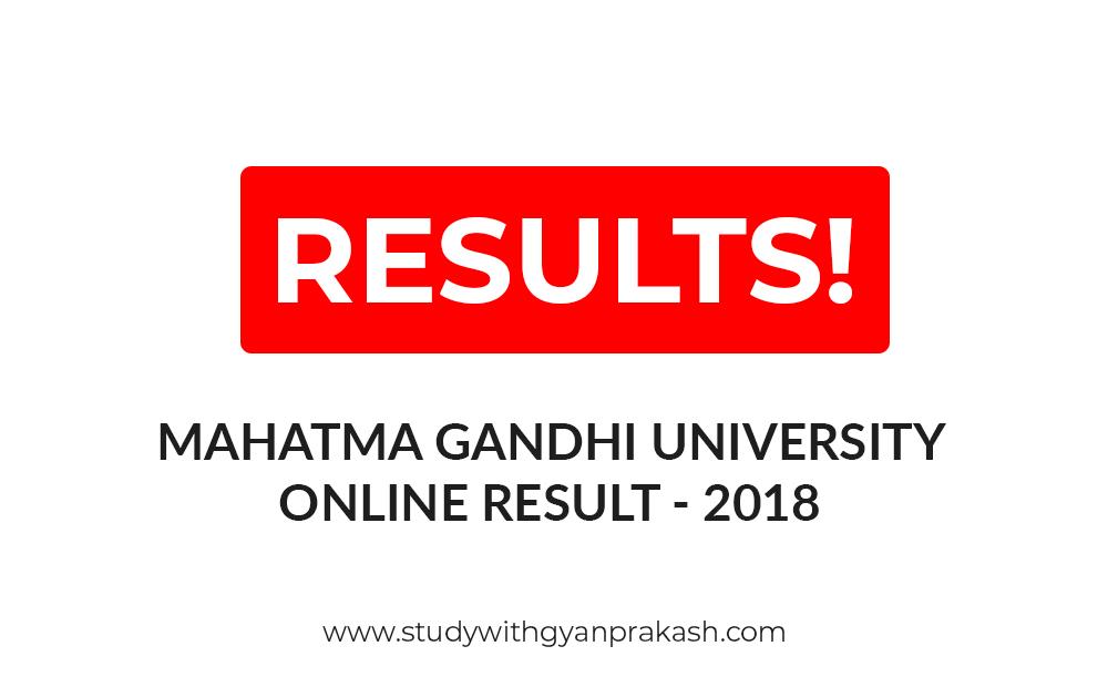 MAHATMA GANDHI UNIVERSITY ONLINE RESULT 2018