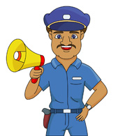 The security guard's improper report