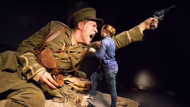 Jacqueline Makkee of Weta Workship, works on the model of Gallipoli soldier Spencer Westmacott.