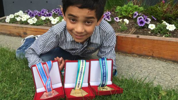 Twizel's Joshua Toon, 8, was the top year 3 pupil in the world in the World Education Games.