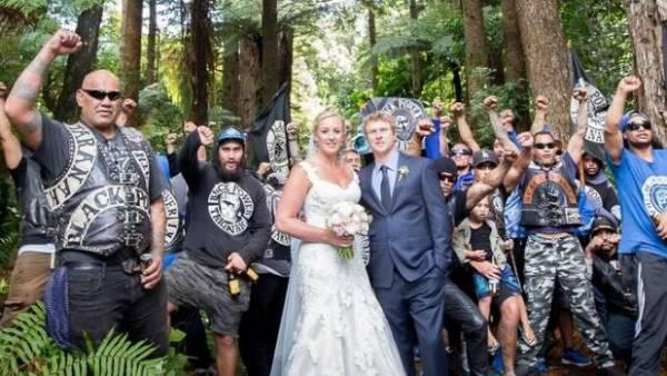 Newlyweds Sarah and Matthew Okes took a