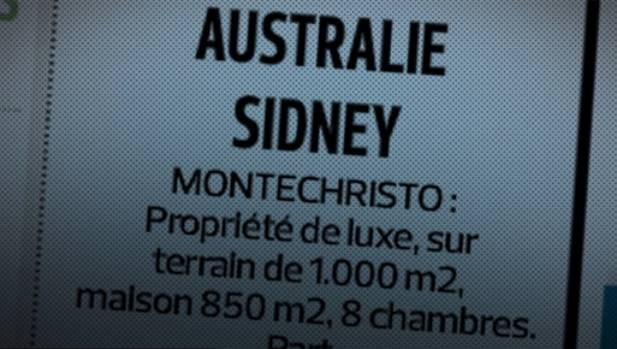 The advertisment in French newspaper Le Figaro placed by an Australian journalist, using the words Monte Christo to ...