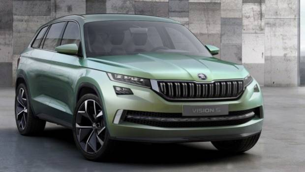 The seven-seat wagon is based on Skoda's Vision S concept.