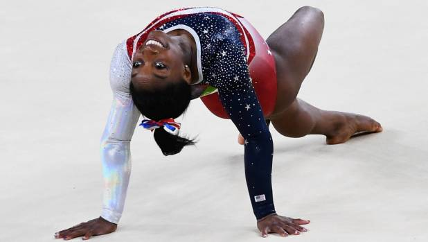 American Olympic gymnast Simone Biles in action in Rio. The sense of of women athletes being on show can be heightened ...