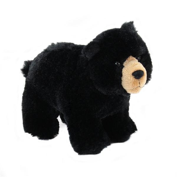Morley The Standing Plush Black Bear By Douglas