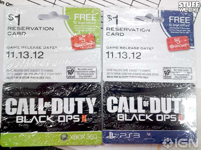 Call of Duty Black Ops 2 Target pre-order