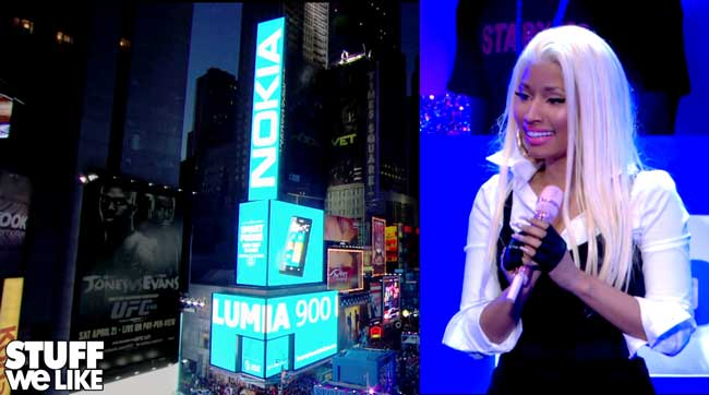 Nicki Minaj and Nokia take over Time Square
