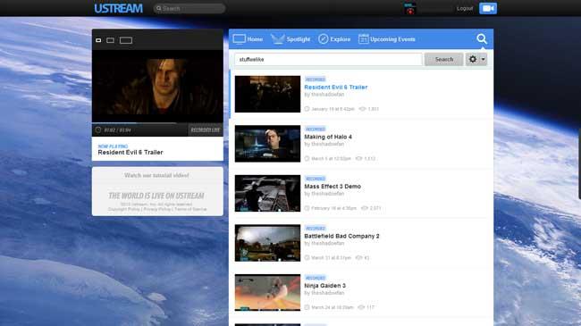 Ustream's New Redesign