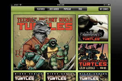 IDW & Nickelodeon Launch Teenage Mutant Ninja Turtles Comics App on iOS