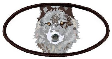 Grey Wolf Face Patch
