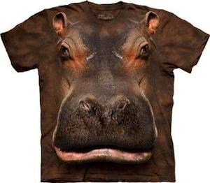 Hippo Head T-shirt