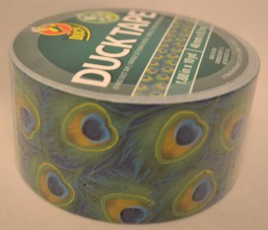 Peacock Feathers Duct Tape