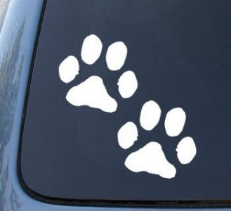 Paw Prints Vinyl Decals