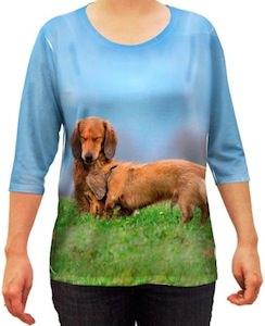 women's dachshund shirt