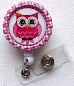 Owl id Badge Holder