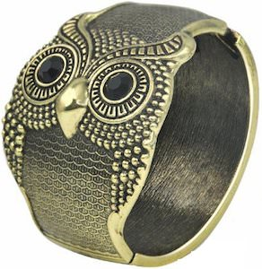 Vintage Owl Bangle Bracelet