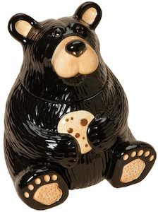 Ceramic Bear shaped cookie jar